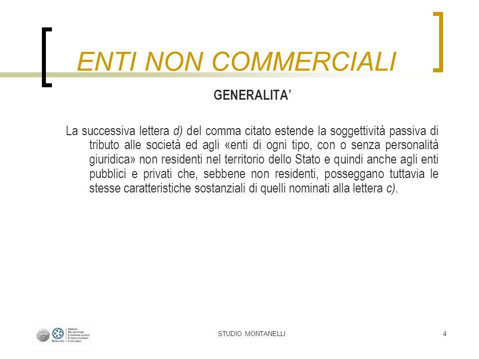 STUDIO MONTANELLI5 DEFINIZIONE - TUIR Il comma 2 dellart.