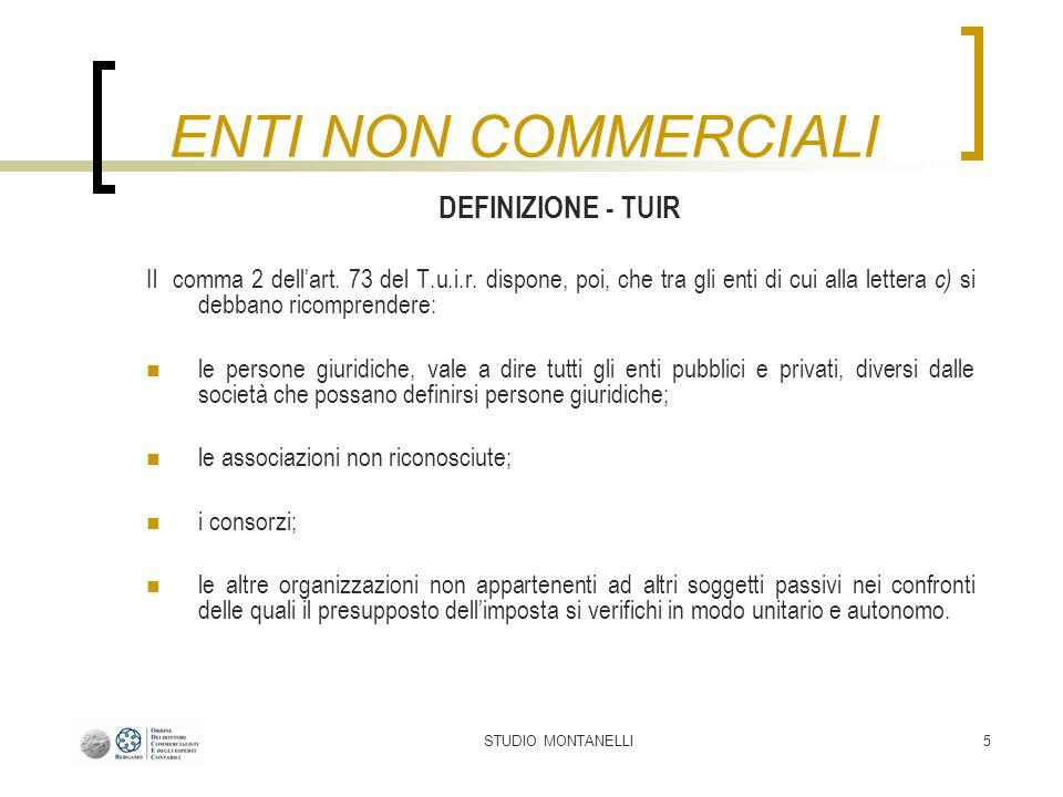 STUDIO MONTANELLI36 Tipologie di attività 1.