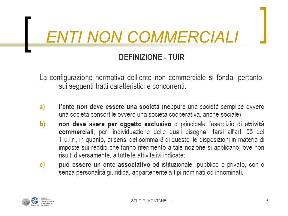 STUDIO MONTANELLI67 CONTROLLI SUGLI ENC Sono invece tenute alla presentazione del modello EAS le c.d.