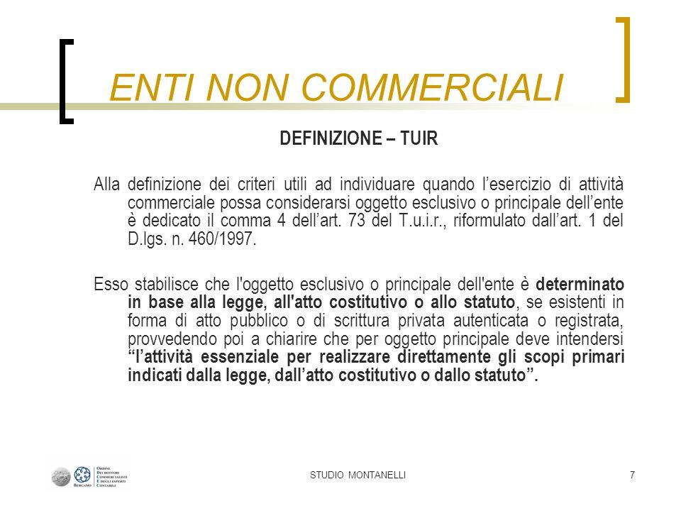 STUDIO MONTANELLI8 Con il comma 5 dellart.73 del T.u.i.r., aggiunto dallart.