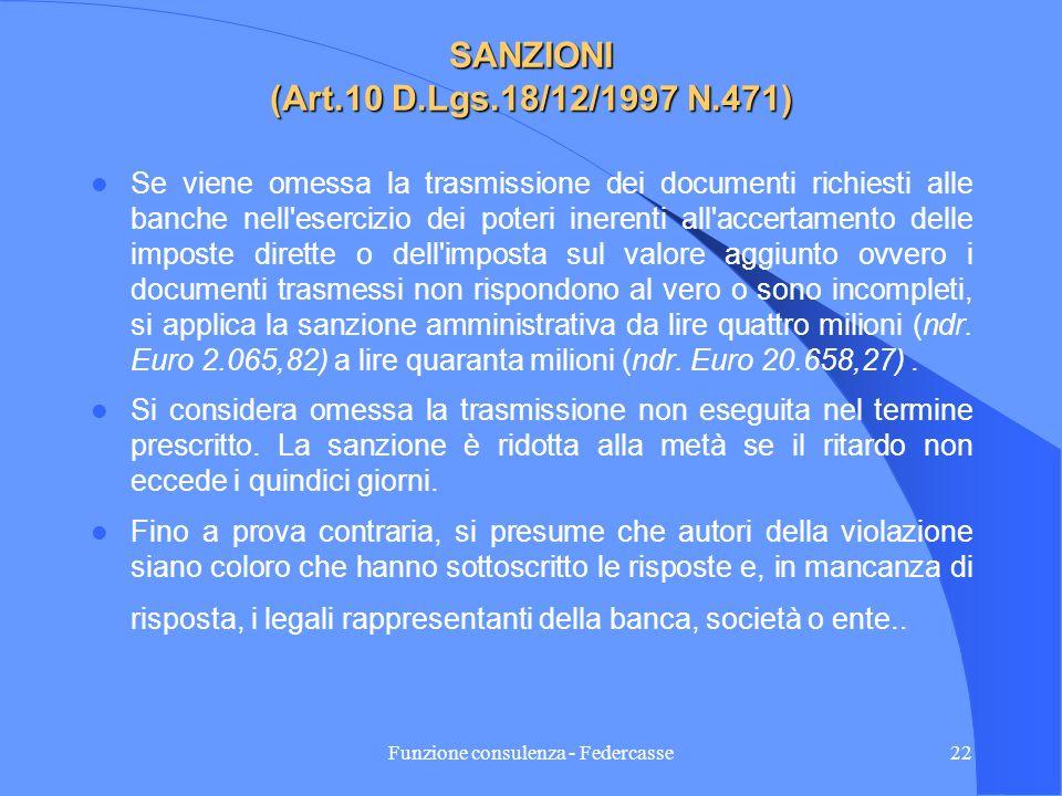 Funzione consulenza - Federcasse21 PROROGA Provvedimento dellagenzia delle Entrate n.