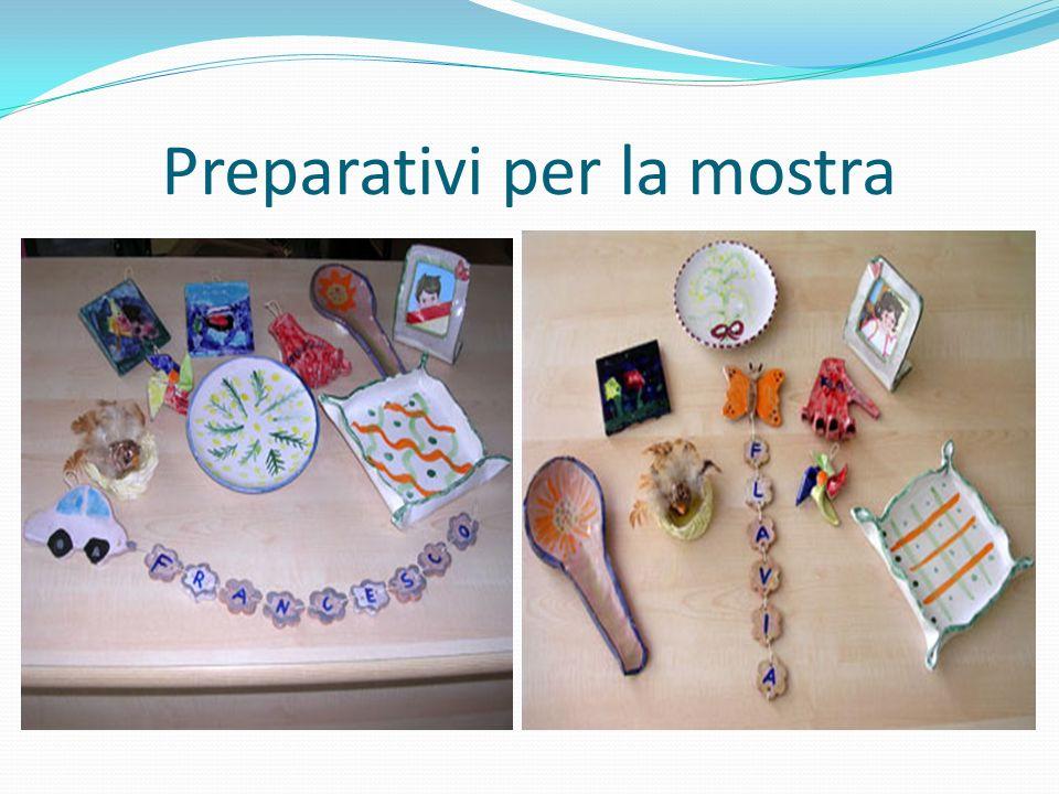 Preparativi per la mostra