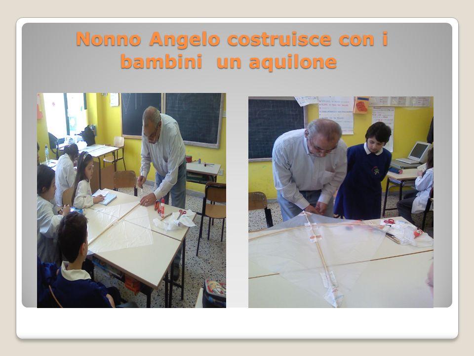 Nonno Angelo costruisce con i bambini un aquilone Nonno Angelo costruisce con i bambini un aquilone