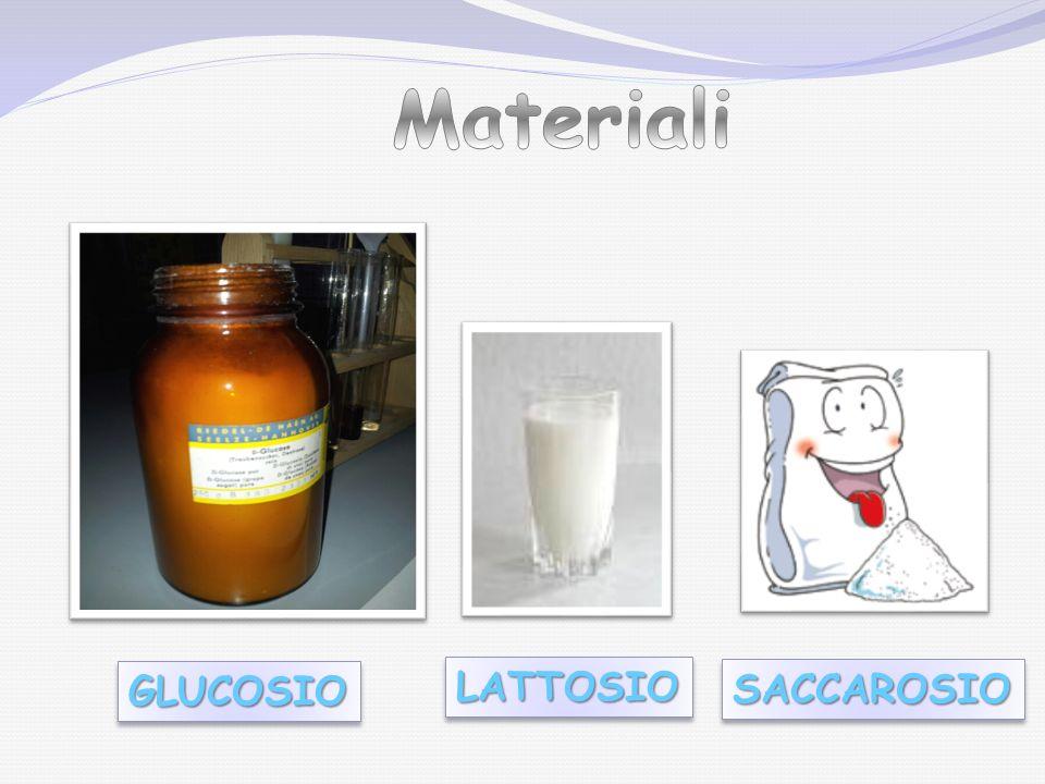 1) Preparazione dei due reattivi, Fehling A e B; 1) Preparazione dei due reattivi, Fehling A e B; 2) preparare tre provette contenenti 5 mL circa di acqua distillata.