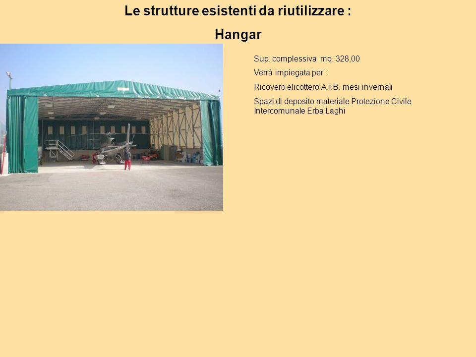 Le strutture esistenti da riutilizzare : Hangar Sup.