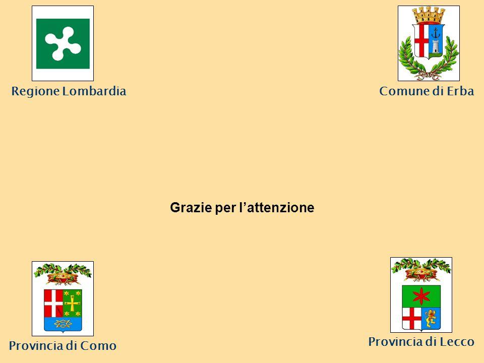 Comune di Erba Provincia di Lecco Grazie per lattenzione Regione Lombardia Provincia di Como
