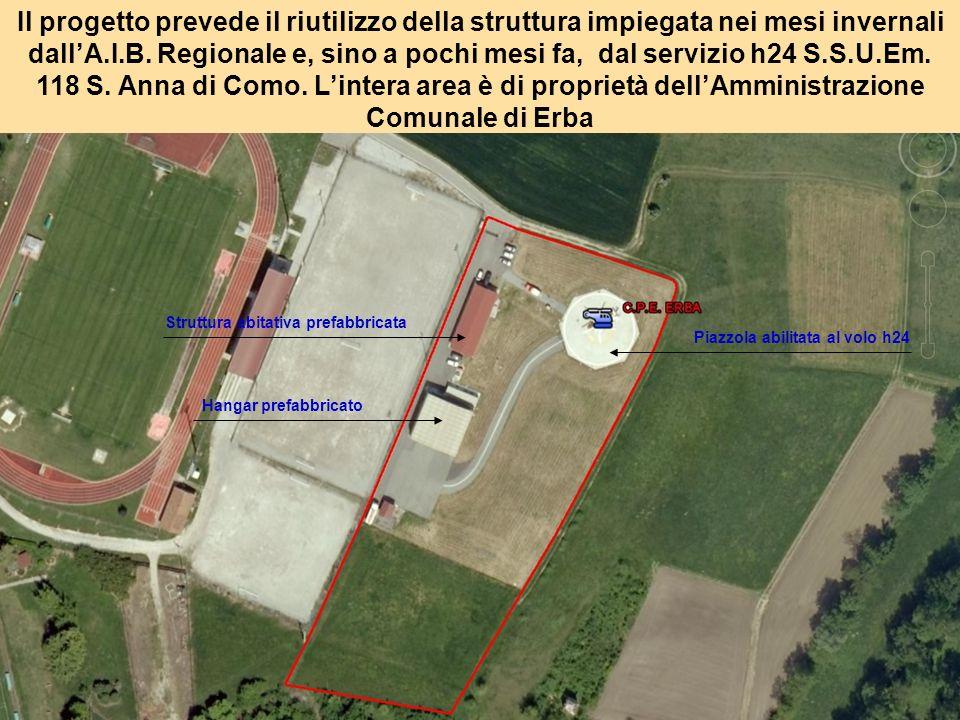 Il progetto prevede il riutilizzo della struttura impiegata nei mesi invernali dallA.I.B.