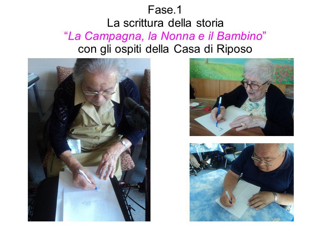 Fase.1 La scrittura della storiaLa Campagna, la Nonna e il Bambino con gli ospiti della Casa di Riposo