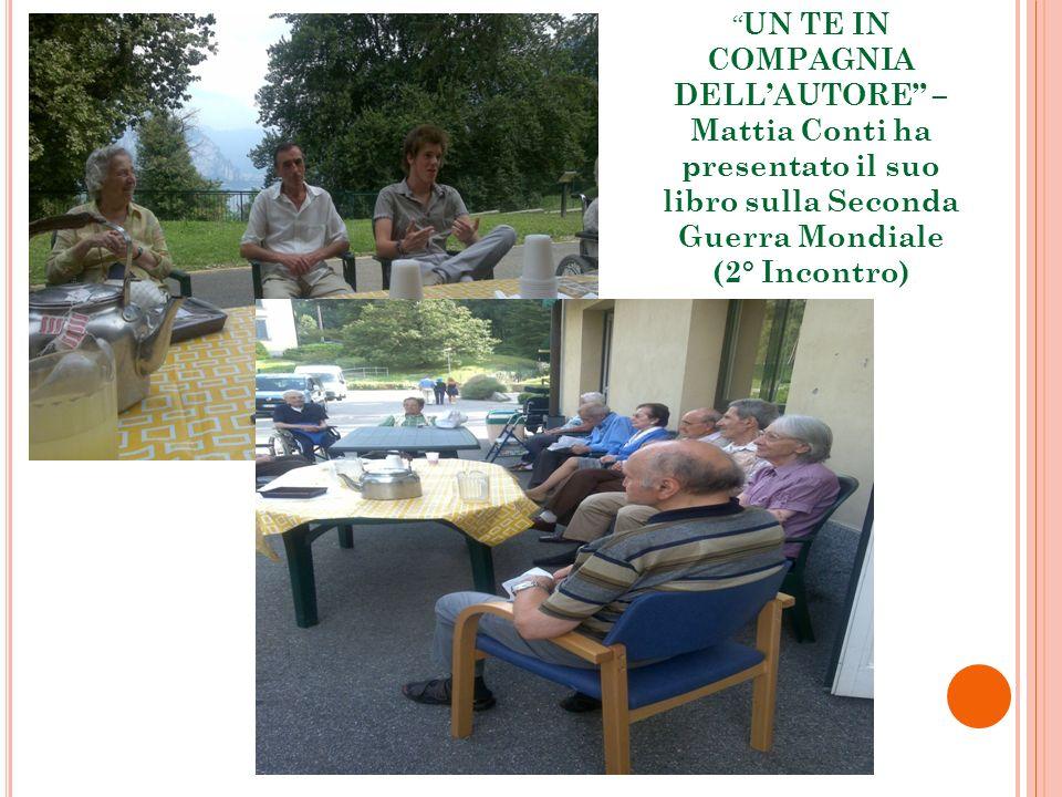 UN TE IN COMPAGNIA DELLAUTORE – Mattia Conti ha presentato il suo libro sulla Seconda Guerra Mondiale (2° Incontro)