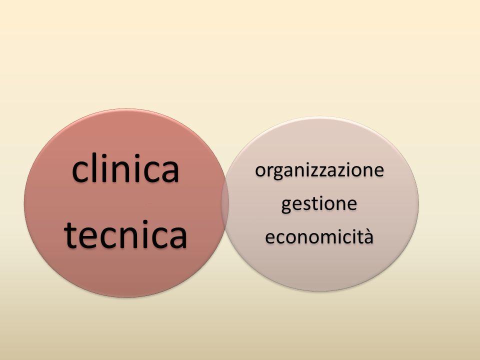 clinica tecnica organizzazione gestione economicità
