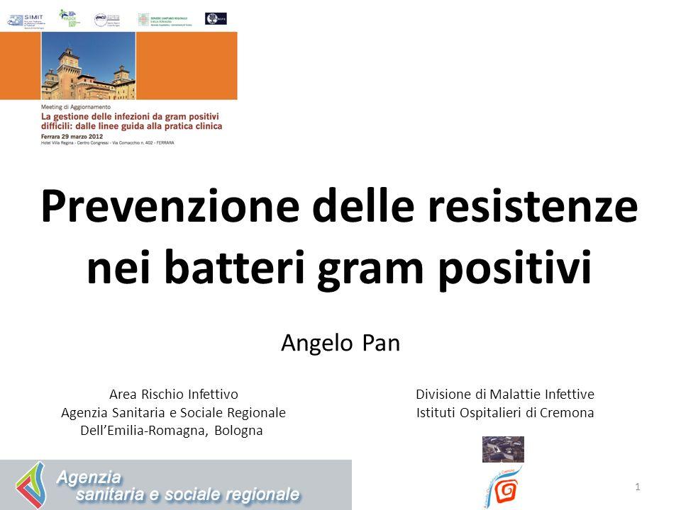 1 Angelo Pan Area Rischio Infettivo Agenzia Sanitaria e Sociale Regionale DellEmilia-Romagna, Bologna Divisione di Malattie Infettive Istituti Ospital