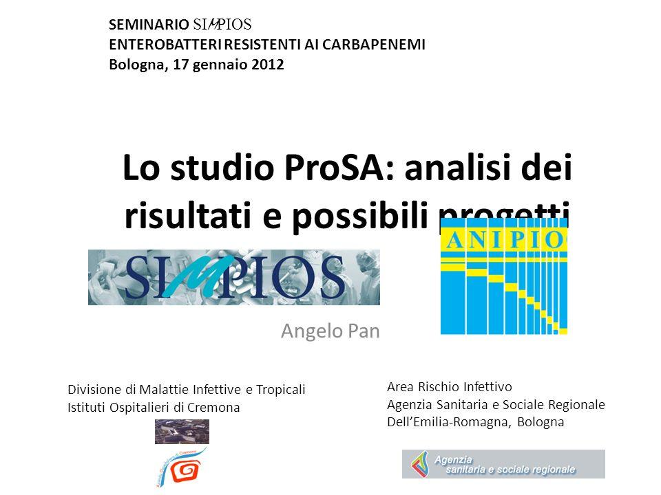 Lo studio ProSA: analisi dei risultati e possibili progetti Divisione di Malattie Infettive e Tropicali Istituti Ospitalieri di Cremona Angelo Pan SEM