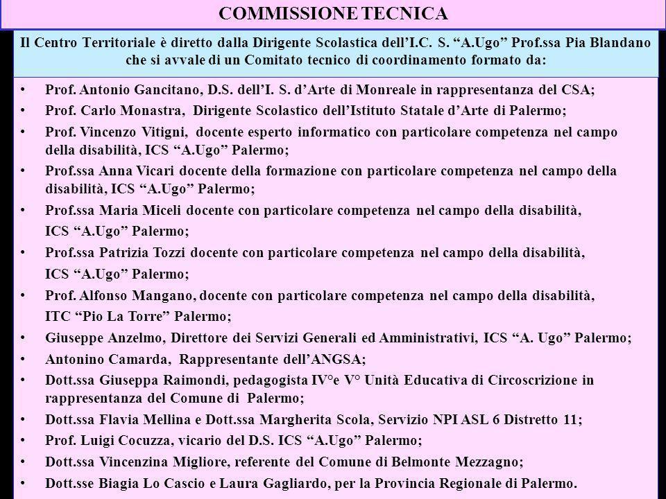 Il Centro Territoriale è diretto dalla Dirigente Scolastica dellI.C. S. A.Ugo Prof.ssa Pia Blandano che si avvale di un Comitato tecnico di coordiname