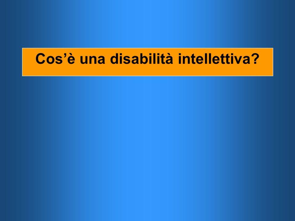Cosè una disabilità intellettiva?