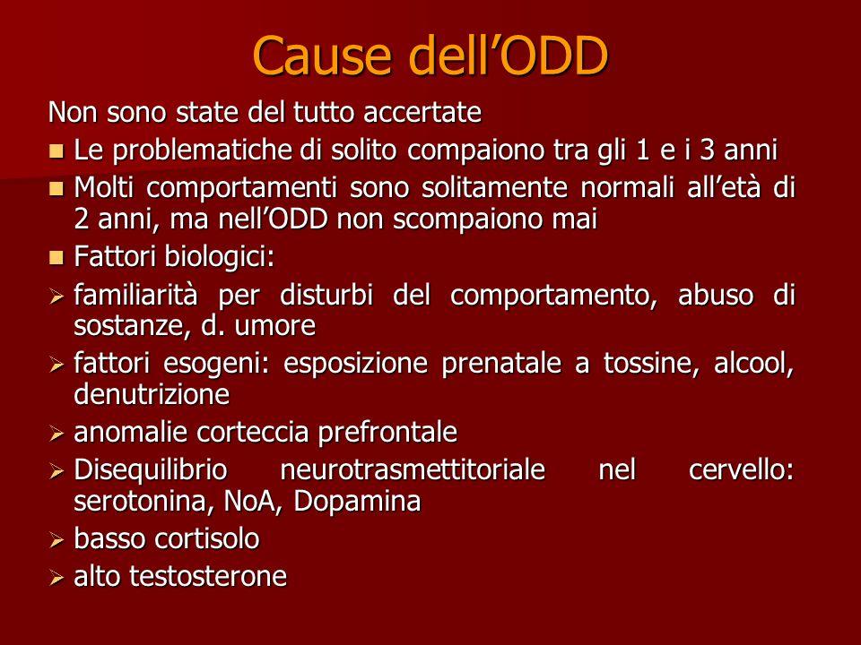 Teorie dell ODD Developmental Theory LODD è il risultato di uno sviluppo incompleto LODD è il risultato di uno sviluppo incompleto I bambini appaiono