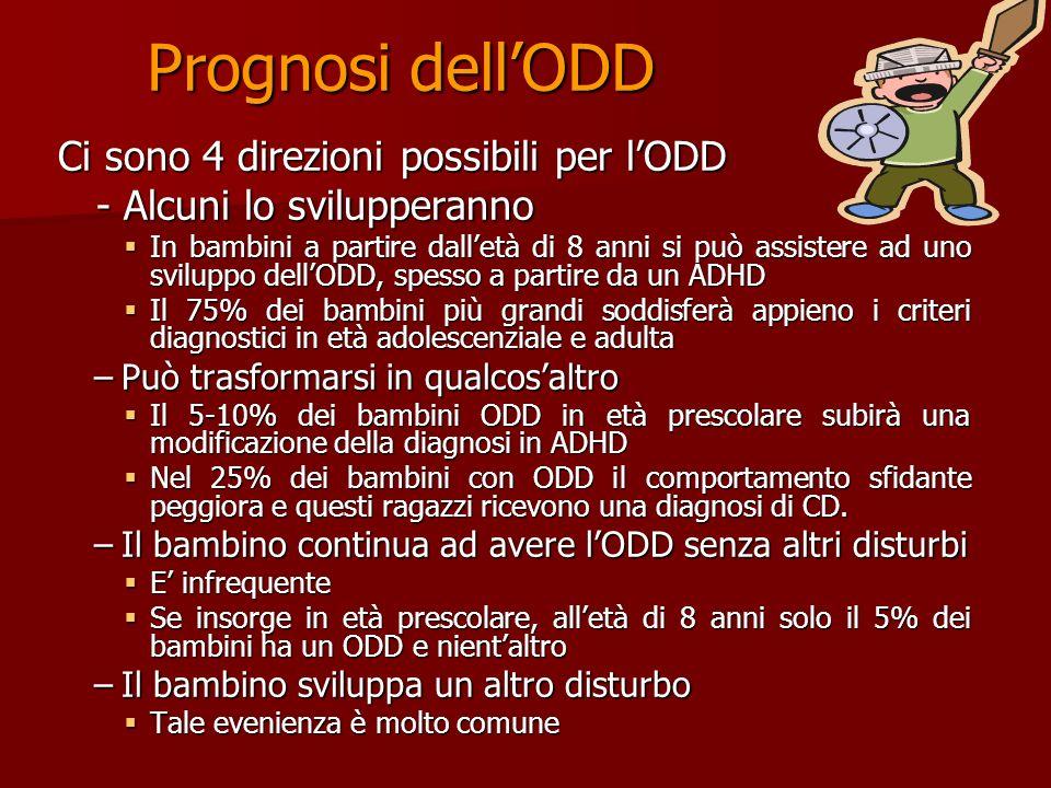 ODD e traiettorie evolutive Irritabile/ emozionalità negativa Dannoso/ aggressivo premeditato Ostinato/ impulsivo