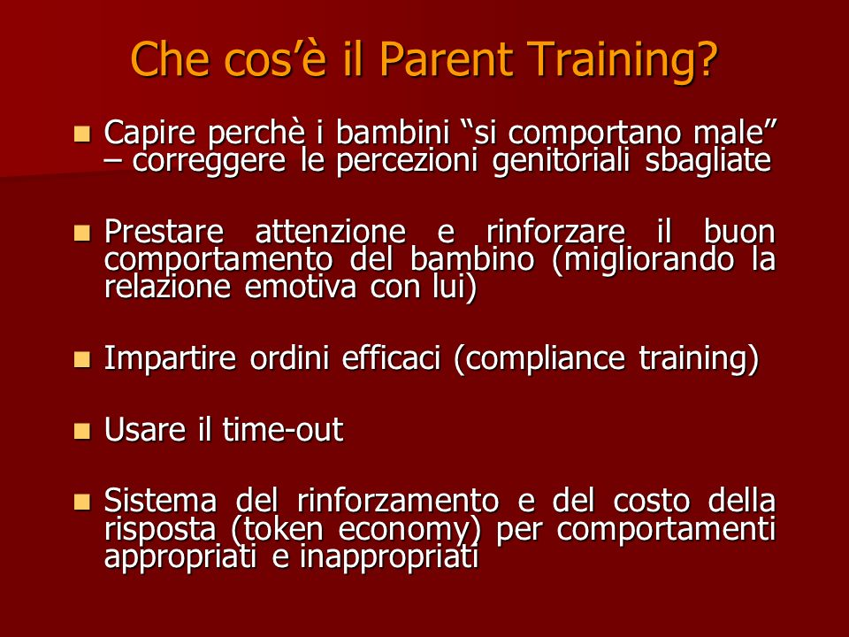 Parent Training in behavior management has the clearest support for its efficacy, having been evaluated in 24 controlled tests… Parent Training in behavior management has the clearest support for its efficacy, having been evaluated in 24 controlled tests…