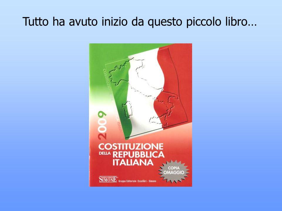 BAMBINI DI SANA COSTITUZIONE Breve viaggio alla scoperta della Costituzione della Repubblica italiana Scuola primaria di Lerchi Classe V A.S. 2009/201