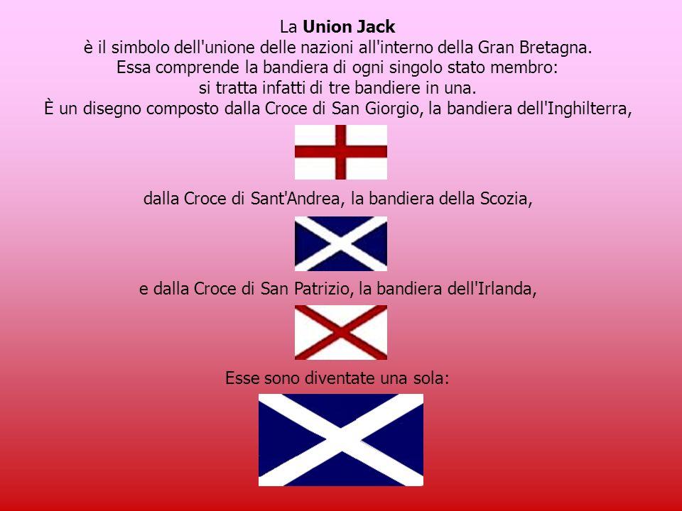 Anche la bandiera inglese ha il suo significato… … e viene anche chiamata Union Jack
