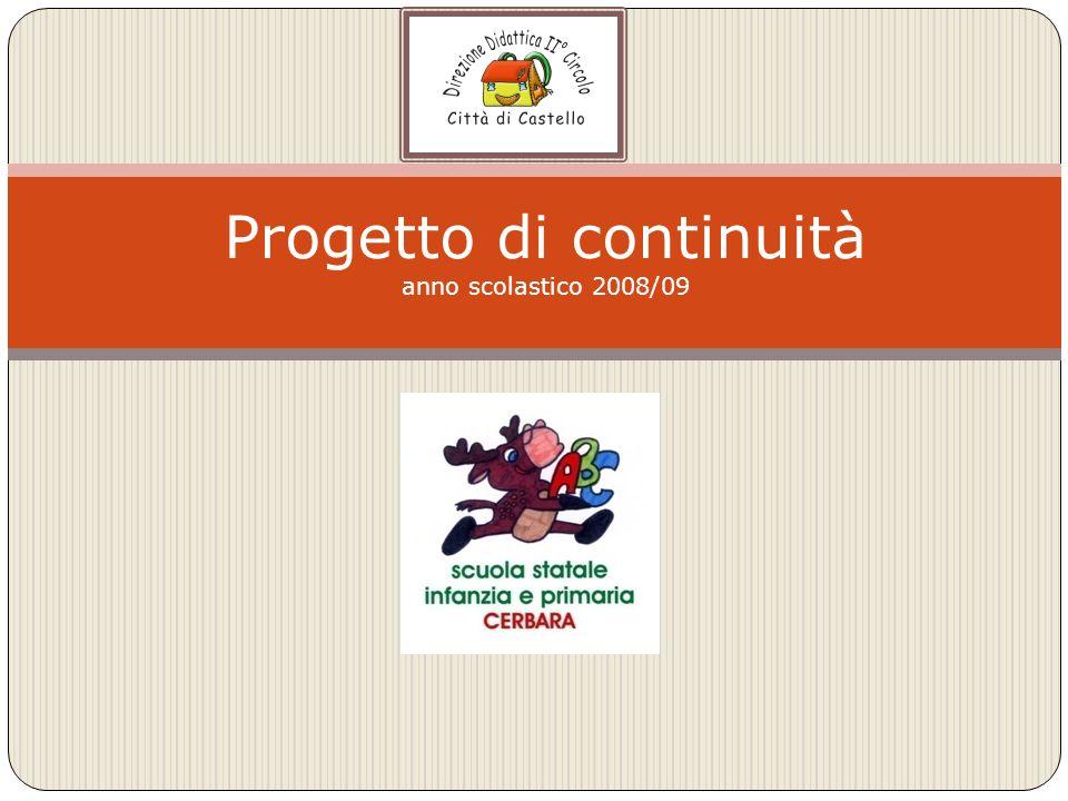 Progetto di continuità anno scolastico 2008/09