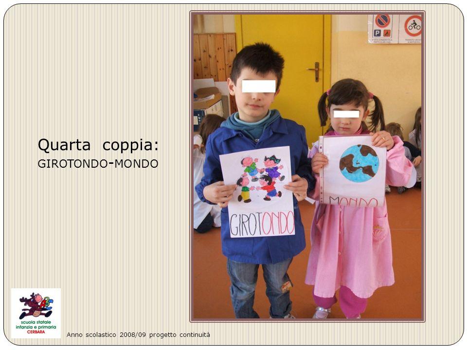 Quarta coppia: GIROTONDO - MONDO Anno scolastico 2008/09 progetto continuità