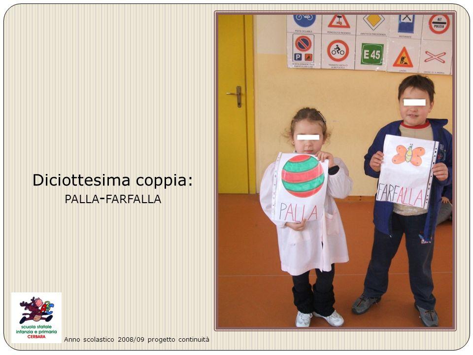 Diciottesima coppia: PALLA - FARFALLA Anno scolastico 2008/09 progetto continuità