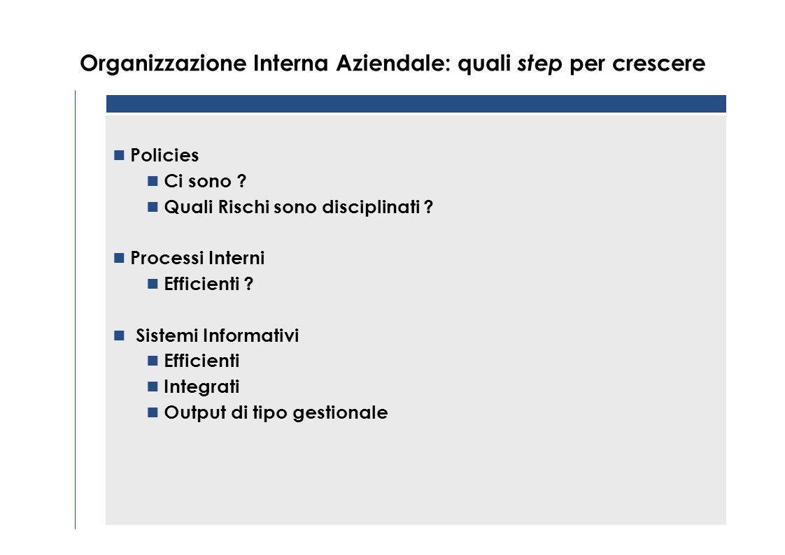 Organizzazione Interna Aziendale: quali step per crescere Business focus sui rischi potenziali (mercato di riferimento, paesi, competitors, forex, tax