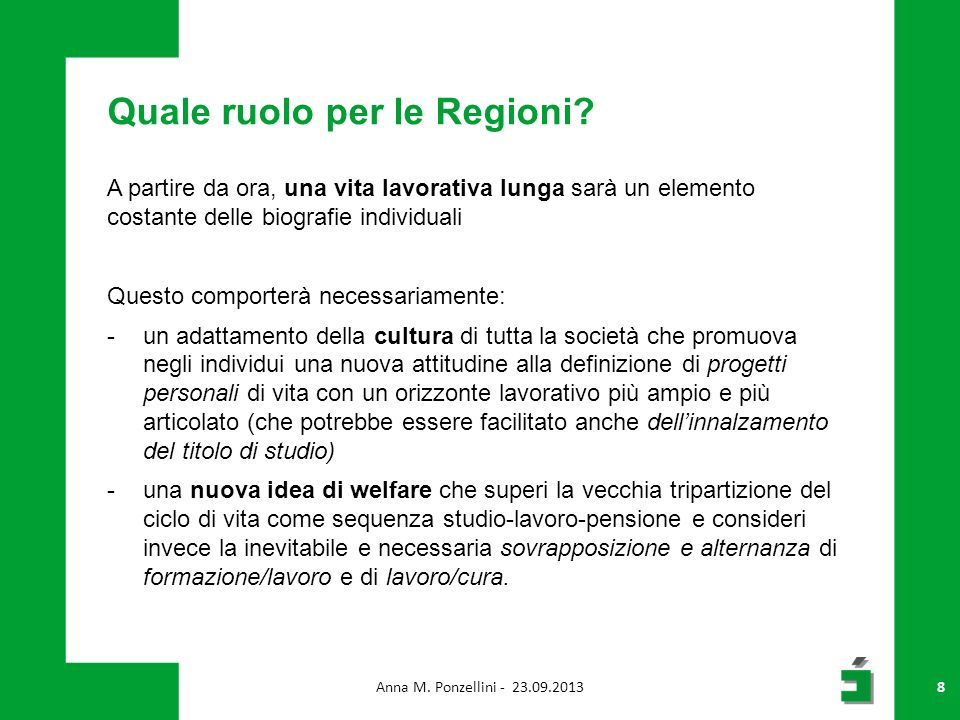 Quale ruolo per le Regioni.