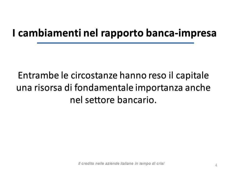 4 I cambiamenti nel rapporto banca-impresa