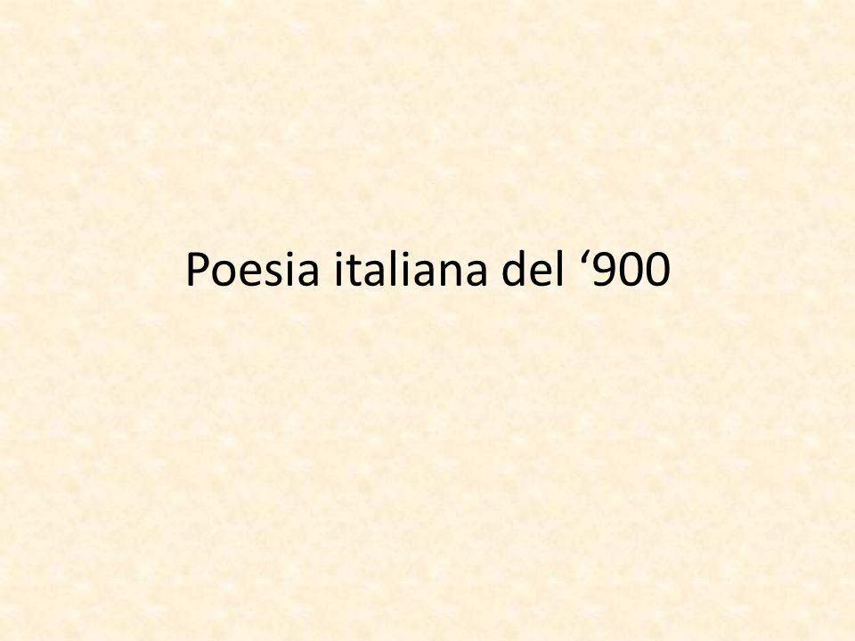 Poesia italiana del 900