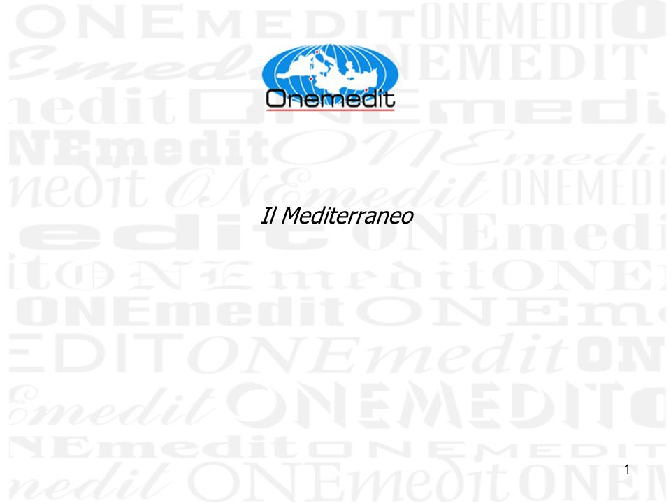 1 Il Mediterraneo