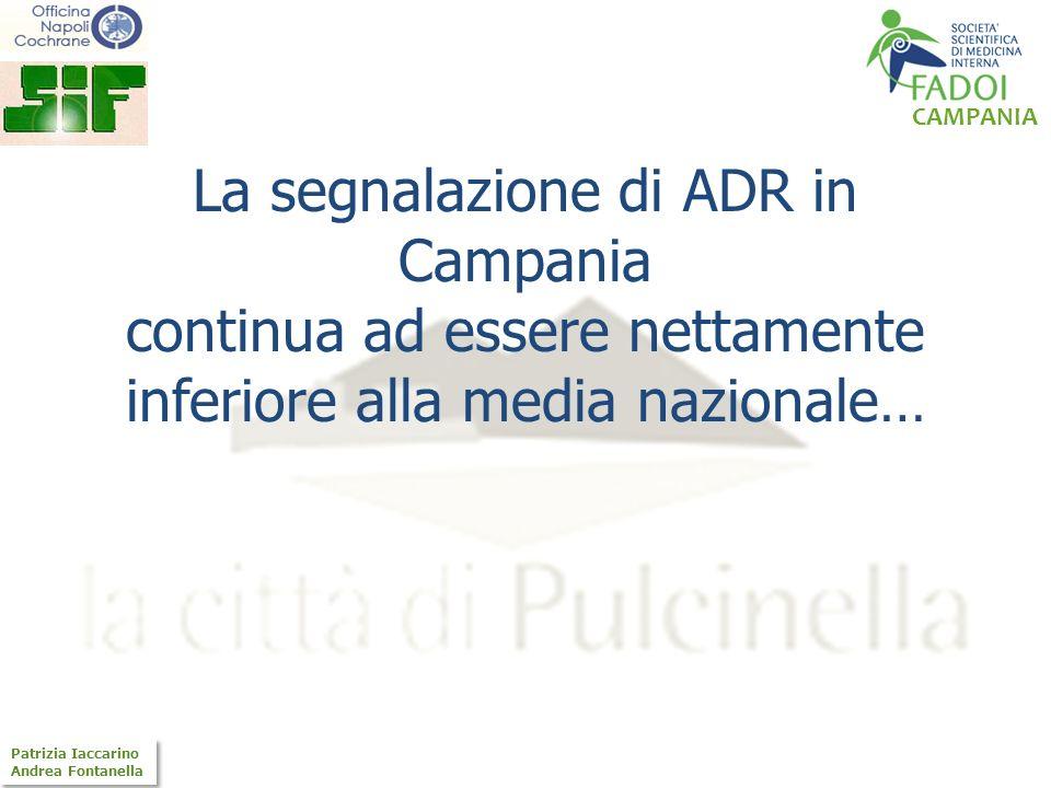 CAMPANIA Patrizia Iaccarino Andrea Fontanella Patrizia Iaccarino Andrea Fontanella Cosa deve segnalare il MMG Nuovi farmaci: segnalare tutte le reazioni sospettate (qualsiasi evento indesiderato o inaspettato), o anche quelle meno gravi, che siano apparentemente attribuibili al farmaco.