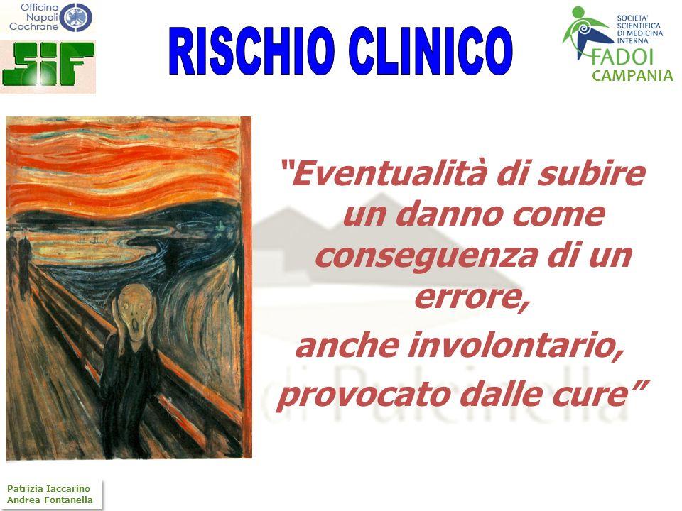 CAMPANIA Patrizia Iaccarino Andrea Fontanella Patrizia Iaccarino Andrea Fontanella Eventualità di subire un danno come conseguenza di un errore, anche