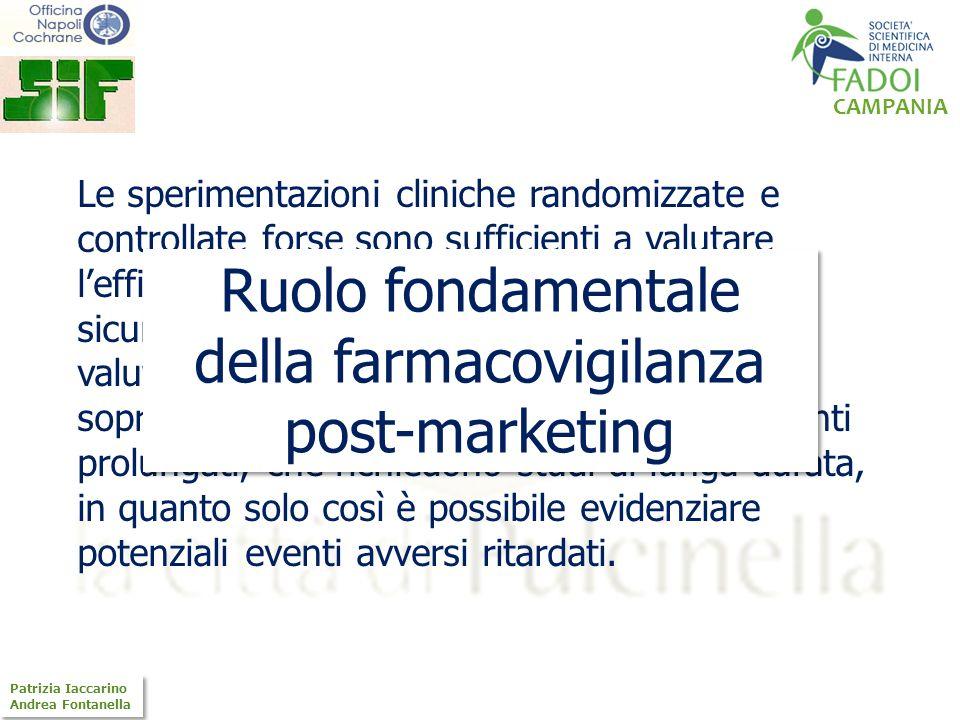 CAMPANIA Patrizia Iaccarino Andrea Fontanella Patrizia Iaccarino Andrea Fontanella Le sperimentazioni cliniche randomizzate e controllate forse sono s