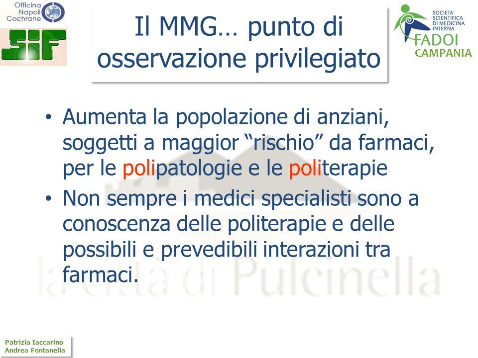 CAMPANIA Patrizia Iaccarino Andrea Fontanella Patrizia Iaccarino Andrea Fontanella Il MMG… punto di osservazione privilegiato Aumenta la popolazione d