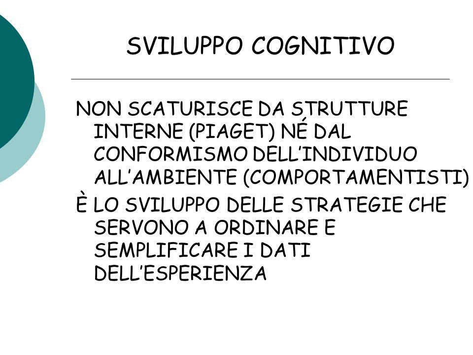 ALCUNE CAPACITÀ DEL BAMBINO SONO PRESENTI ALLA NASCITA IL BAMBINO È CAPACE DI COMPIERE DELLE RAPPRESENTAZIONI, CIOÈ IPOTIZZA DELLE SOLUZIONI ANCHE SE LOGGETTO NON È A PORTATA DI MANO GIÀ VERSO LE 10-12 SETTIMANE