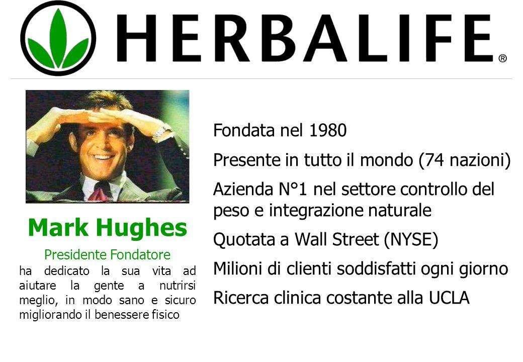 Fondata nel 1980 Presente in tutto il mondo (74 nazioni) Azienda N°1 nel settore controllo del peso e integrazione naturale Quotata a Wall Street (NYS