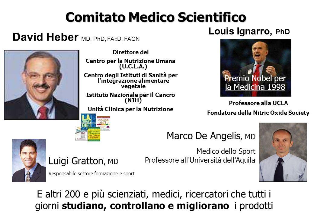 Comitato Medico Scientifico Direttore del Centro per la Nutrizione Umana (U.C.L.A.) Centro degli Istituti di Sanità per lintegrazione alimentare veget