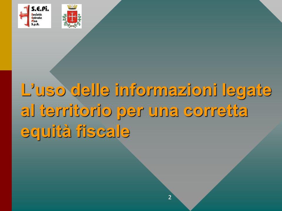2 Luso delle informazioni legate al territorio per una corretta equità fiscale