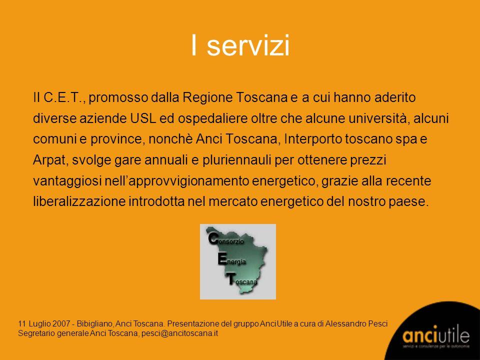 Il C.E.T., promosso dalla Regione Toscana e a cui hanno aderito diverse aziende USL ed ospedaliere oltre che alcune università, alcuni comuni e provin