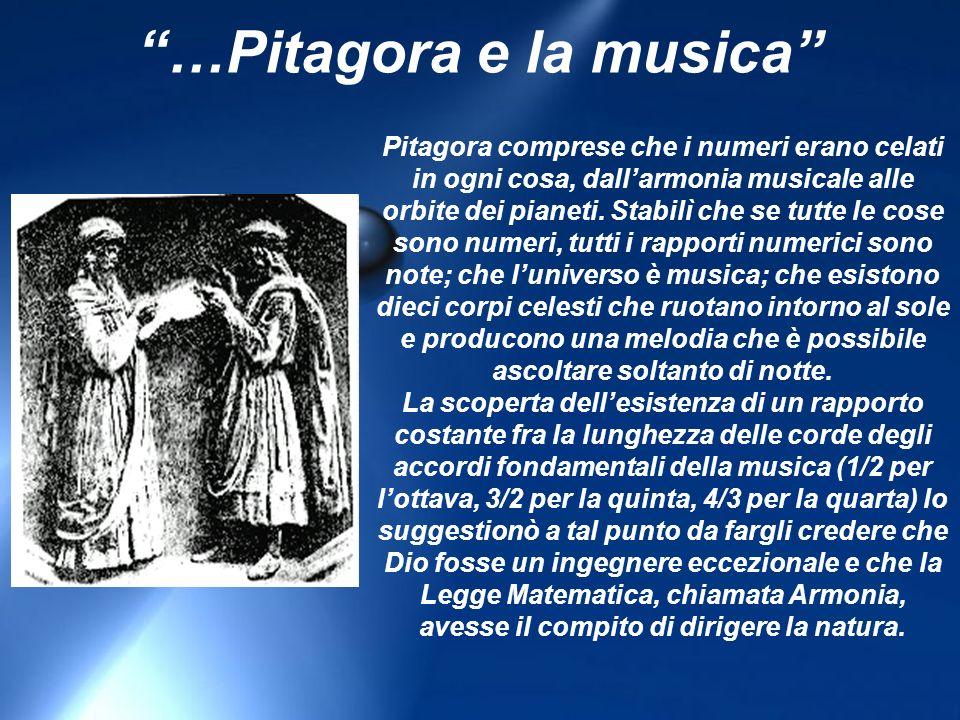 Pitagora comprese che i numeri erano celati in ogni cosa, dallarmonia musicale alle orbite dei pianeti.