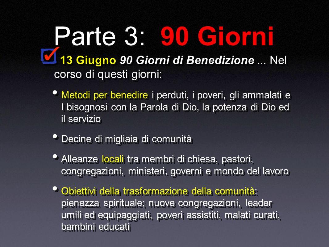 Parte 3: 90 Giorni 13 Giugno 90 Giorni di Benedizione...