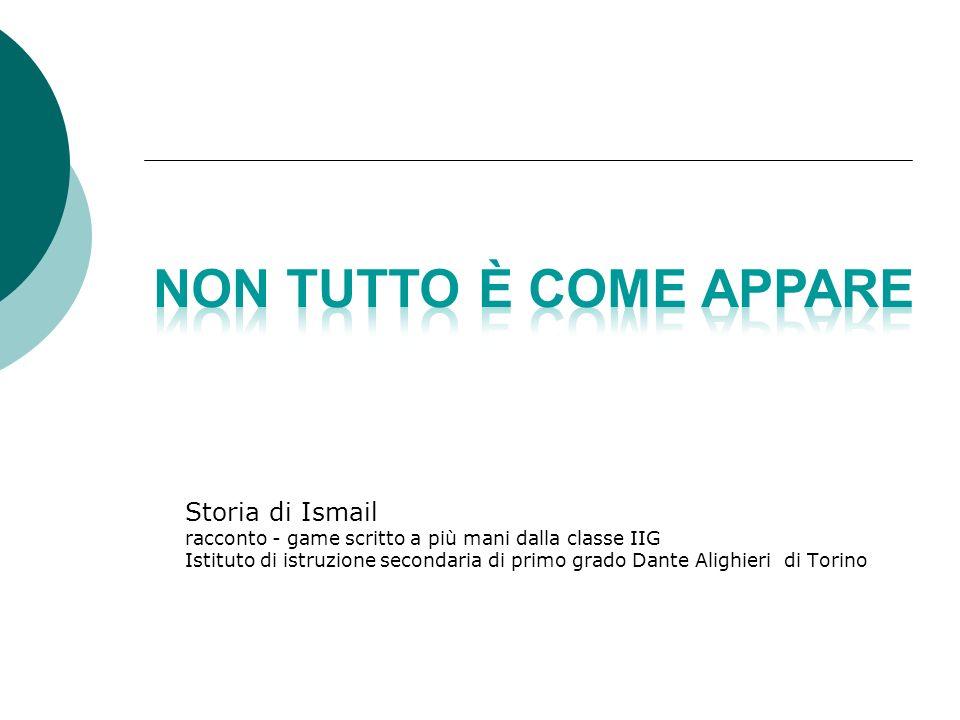 Storia di Ismail racconto - game scritto a più mani dalla classe IIG Istituto di istruzione secondaria di primo grado Dante Alighieri di Torino