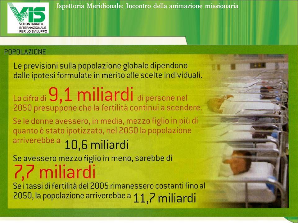 Ispettoria Meridionale: Incontro della animazione missionaria Q uanto rifiuto produce in media un italiano: Fonte: Rapporto Rifiuti 2006 – ONR e APAT La produzione dei rifiuti urbani procapite è cresciuta da 501 kg/procapite nel2000 a 539 kg/ab/anno nel 2005