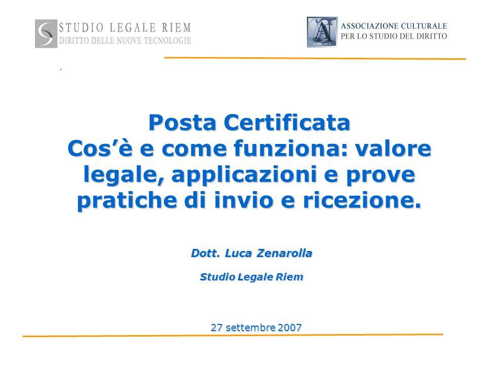 Posta Certificata Cosè e come funziona: valore legale, applicazioni e prove pratiche di invio e ricezione.