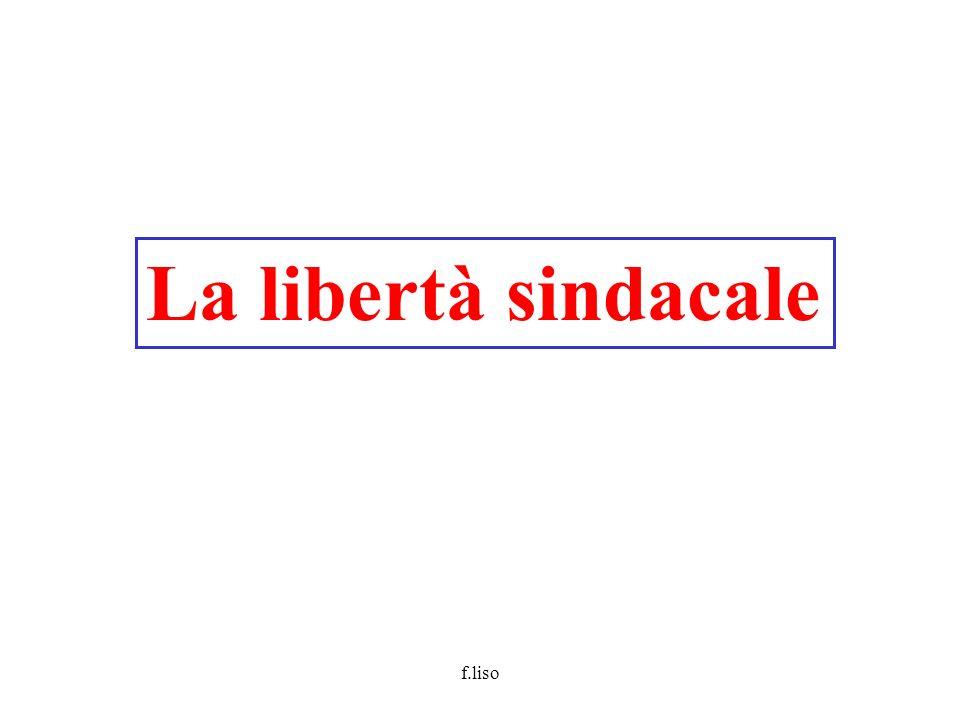 f.liso La libertà sindacale