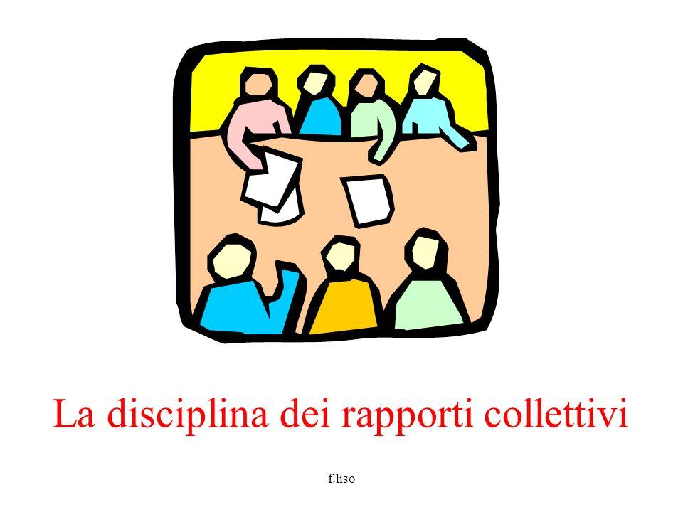 f.liso La disciplina dei rapporti collettivi