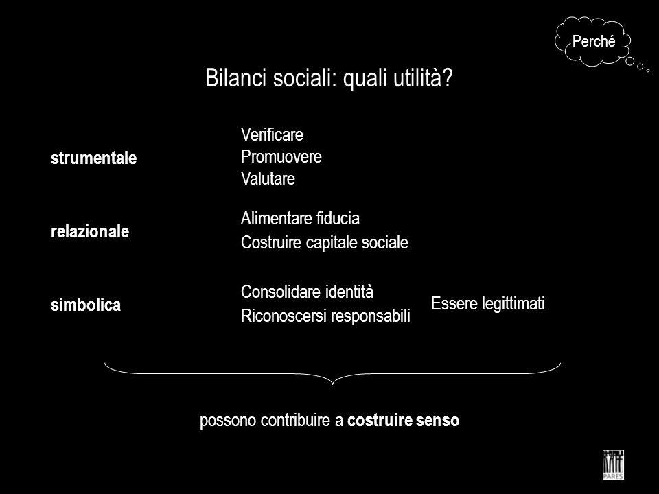 Bilanci sociali: quali utilità.