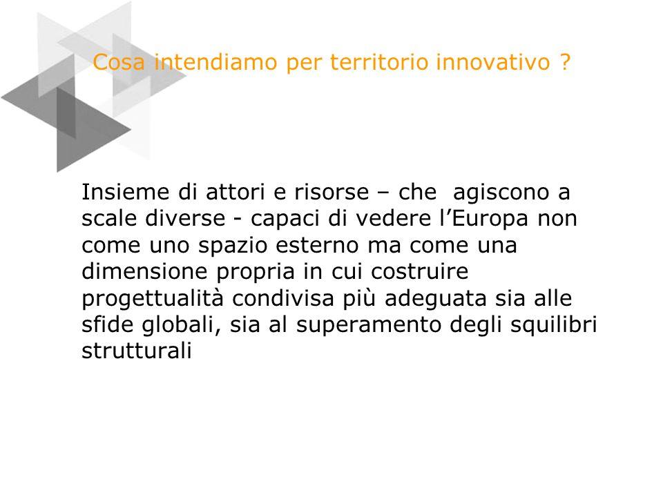 Cosa intendiamo per territorio innovativo .