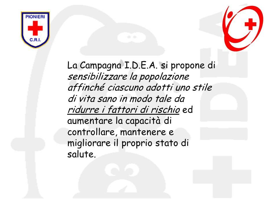 La Campagna I.D.E.A. si propone di sensibilizzare la popolazione affinché ciascuno adotti uno stile di vita sano in modo tale da ridurre i fattori di